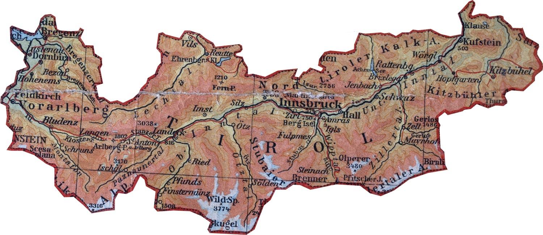 Karte Tirol.Tirol